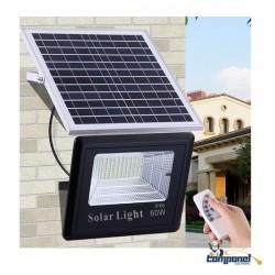 Refletor Solar Led Holofote Recarregável 60w + controle remoto